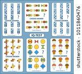 iq test. choose correct answer. ... | Shutterstock .eps vector #1011860476