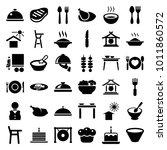plate icons. set of 36 editable ...   Shutterstock .eps vector #1011860572