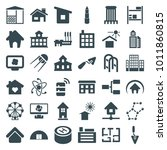 structure icons. set of 36... | Shutterstock .eps vector #1011860815