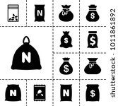 sack icons. set of 13 editable... | Shutterstock .eps vector #1011861892