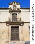 entrance door and facade in... | Shutterstock . vector #1011862972