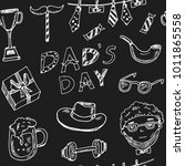 father day hand drawn doodle... | Shutterstock .eps vector #1011865558