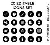 hobby icons. set of 20 editable ... | Shutterstock .eps vector #1011866542