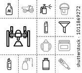container icons. set of 13... | Shutterstock .eps vector #1011869272