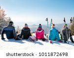 group of friends enjoy at the... | Shutterstock . vector #1011872698