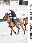Small photo of St. Moritz (Switzerland) - January 27, 2018 - 34TH SNOW POLO WORLD CUP - St. Moritz becomes the world capital of polo, teams from around the world compete for the coveted Cartier Trophy on the frozen