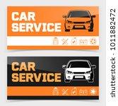 banner or flyer design with car ...   Shutterstock .eps vector #1011882472
