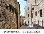 medieval street in the italian...   Shutterstock . vector #1011884236