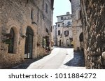 medieval street in the italian...   Shutterstock . vector #1011884272