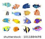 Hand Drawn  Fish Set With...