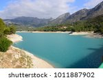 the reservoir of guadalest ... | Shutterstock . vector #1011887902