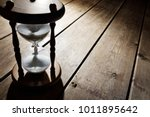 hourglass time passing concept... | Shutterstock . vector #1011895642
