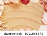 sea shells with sand as... | Shutterstock . vector #1011896872
