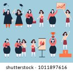 steps to success of two woman...   Shutterstock .eps vector #1011897616
