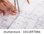 architect drawing architectural ... | Shutterstock . vector #1011897886