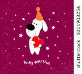 valentine's day love postcard... | Shutterstock .eps vector #1011903256