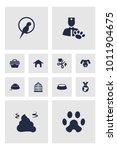 set of 12 animals icons set.... | Shutterstock . vector #1011904675