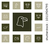 set of 13 animal icons line... | Shutterstock .eps vector #1011904795