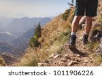 hiking in the mountains  | Shutterstock . vector #1011906226