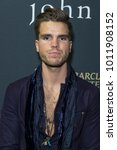 Small photo of New York, NY - January 27, 2018: JJ Julius Son of Icelandic rock band Kaleo attends John Varvatos SS18 ad campaign launch party at The Angel Orensanz Foundation