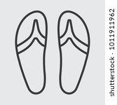 beach slippers icon | Shutterstock .eps vector #1011911962