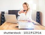 pretty  female freelancer...   Shutterstock . vector #1011912916