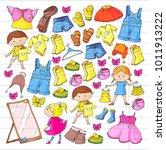 children clothing kindergarten...   Shutterstock .eps vector #1011913222