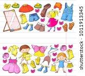 children clothing kindergarten... | Shutterstock .eps vector #1011913345