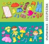 children clothing kindergarten... | Shutterstock .eps vector #1011913366