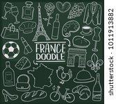 france europe travel doodle... | Shutterstock .eps vector #1011913882