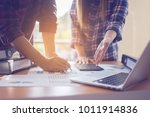 working project managers... | Shutterstock . vector #1011914836