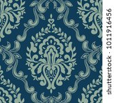 vector damask seamless pattern... | Shutterstock .eps vector #1011916456