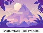 peak. vector mountain landscape | Shutterstock .eps vector #1011916888