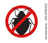 anti no bedbug insect symbol... | Shutterstock .eps vector #1011920152