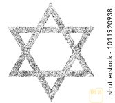 star of david icon vector... | Shutterstock .eps vector #1011920938