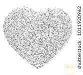valentine   grunge black heart... | Shutterstock .eps vector #1011920962