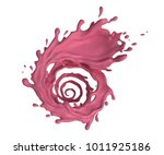 liquid spinning twisted... | Shutterstock . vector #1011925186