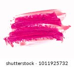 pink lipstick smeared on white. ... | Shutterstock . vector #1011925732