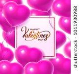 balloon hearts. vector... | Shutterstock .eps vector #1011930988