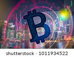 cryptocurrency graph on virtual ... | Shutterstock . vector #1011934522