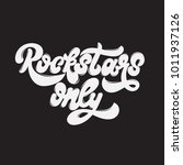 rockstars only. vector... | Shutterstock .eps vector #1011937126