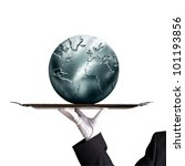 silvery globe | Shutterstock . vector #101193856