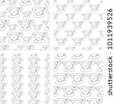 pattern doodle cup of tea vector | Shutterstock .eps vector #1011939526
