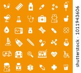 set of medicine icons with... | Shutterstock .eps vector #1011943606