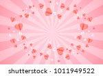 card valentine's day balloon... | Shutterstock .eps vector #1011949522