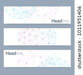 scientific set of modern vector ... | Shutterstock .eps vector #1011951406