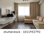 living room with a beautiful... | Shutterstock . vector #1011952792