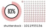 set of circle percentage... | Shutterstock .eps vector #1011955156