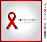 4 february world cancer day... | Shutterstock .eps vector #1011955912