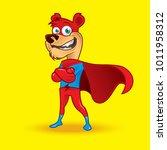 superhero bear character doing... | Shutterstock .eps vector #1011958312